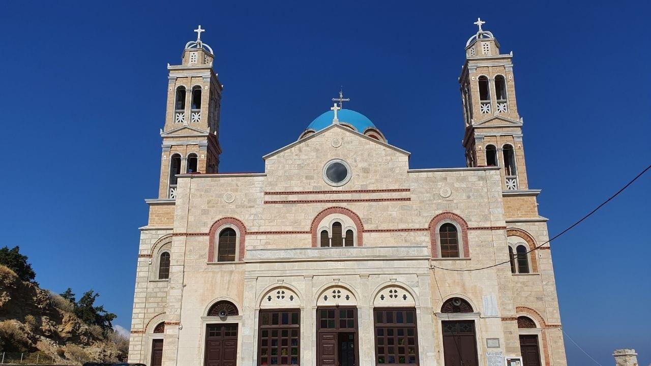 A regal looking church in Syros Greece
