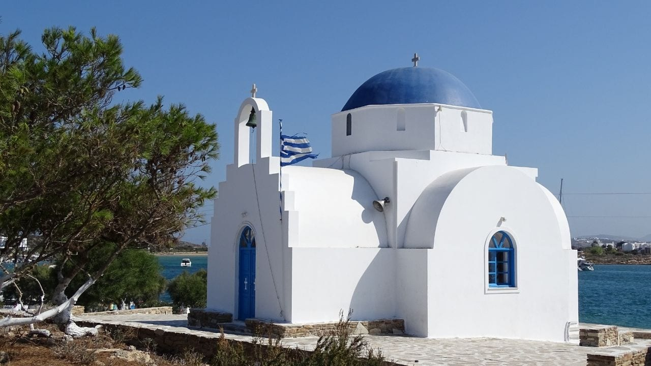 Traveling to Antiparos island from Paros in Greece