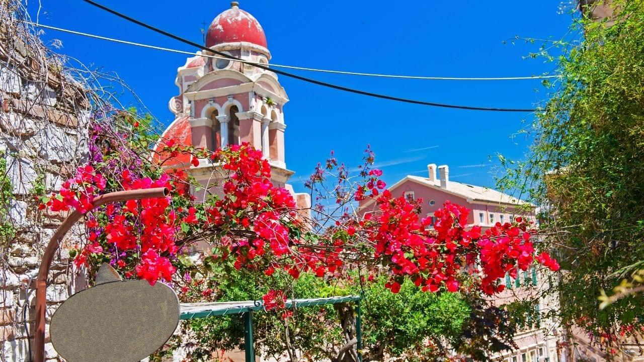 Exploring Corfu town in Greece