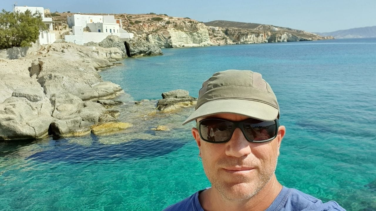 Dave from Dave's Travel Pages in Kimolos island, Greece