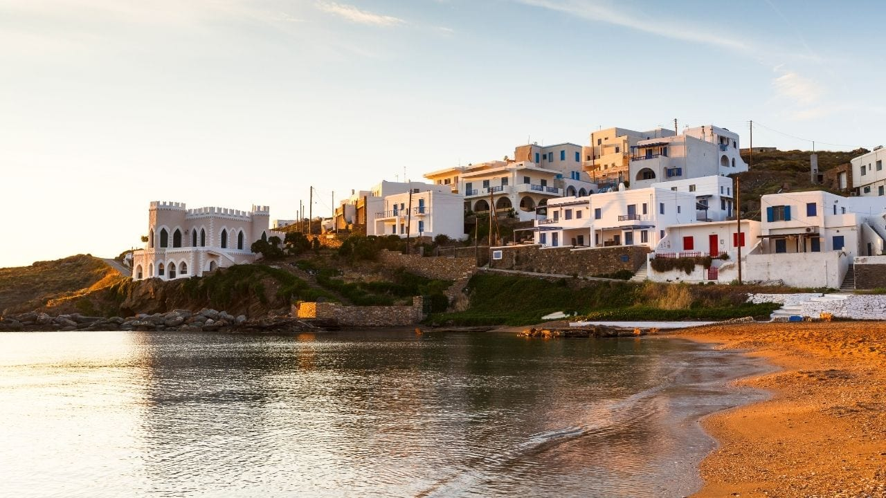 How to travel from Syros to Kythnos island in Greece