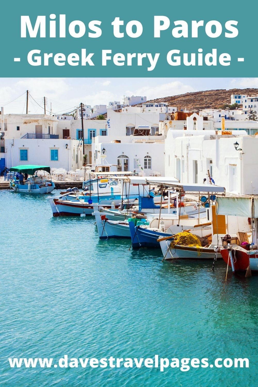 Milos to Paros Ferry Guide