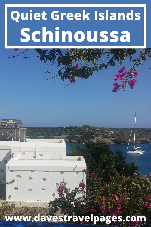 Ferry hopping from Mykonos to Schinoussa in Greece