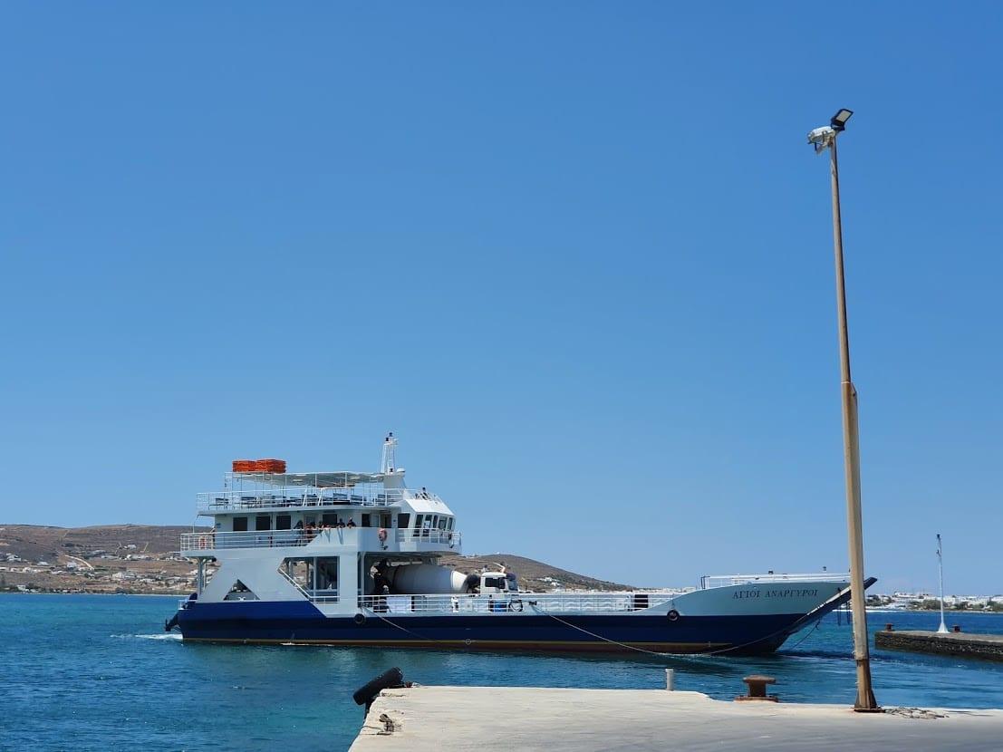 taking the ferry from Paros to Antiparos