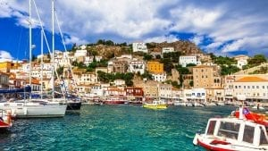 A view of the Saronic island of Hydra in Greece
