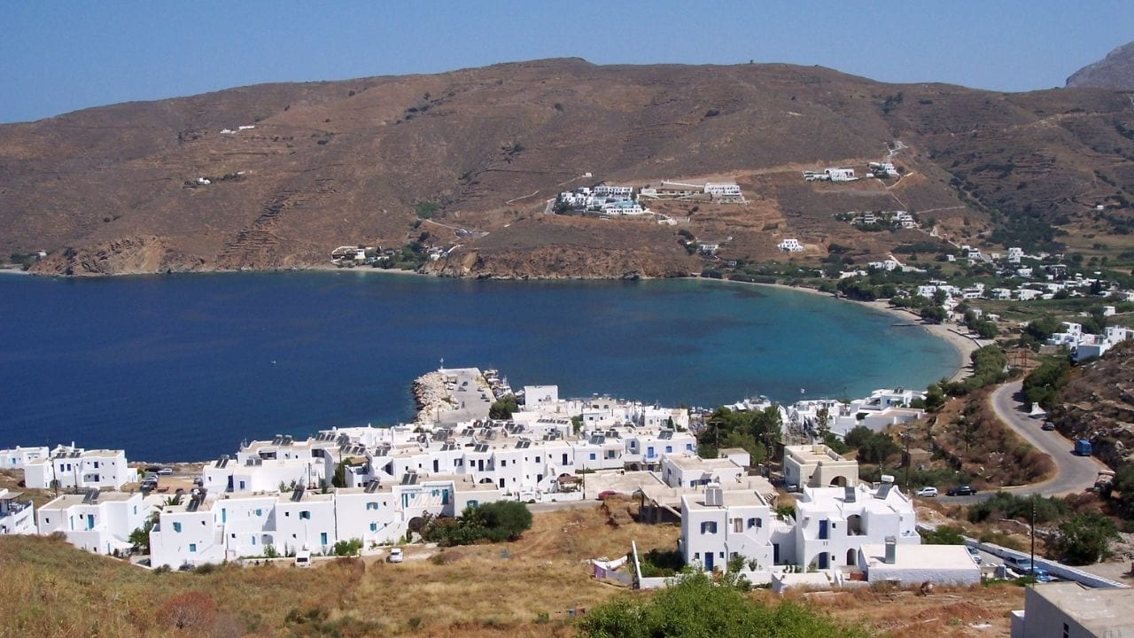 Traveling from Milos to Amorgos by ferry