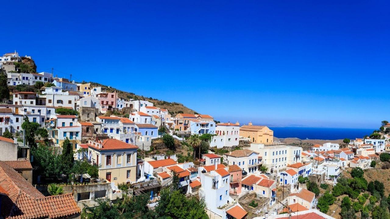 Traveling from Milos to Kea island in Greece by ferry