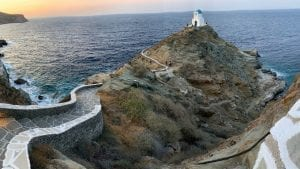 Traveling to Sifnos island after Milos in Greece