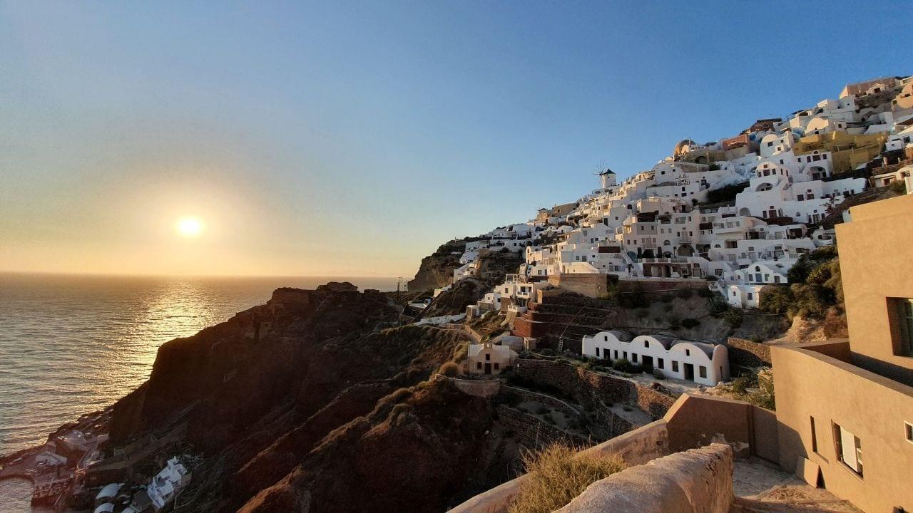 A view of Santorini in Greece