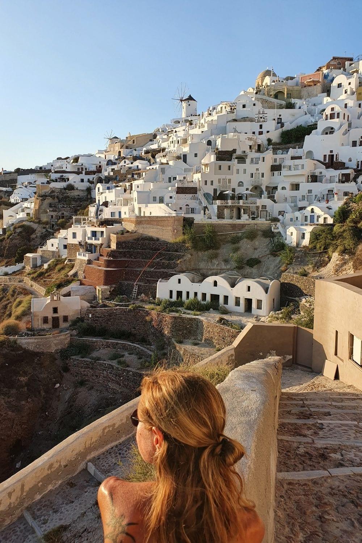 Exploring Santorini in Greece