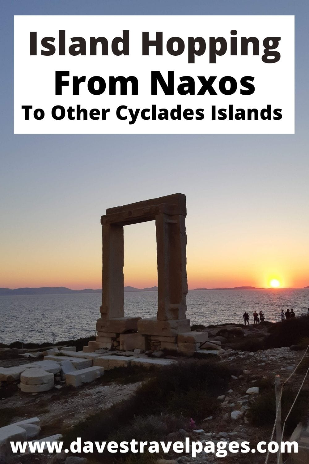 Island hopping from Naxos to other Cyclades islands in Greece
