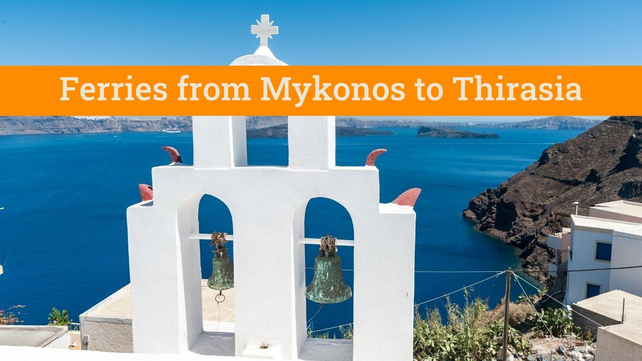 Traveling from Mykonos to Thirasia in Greece