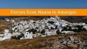 Naxos Amorgos Ferry Schedules