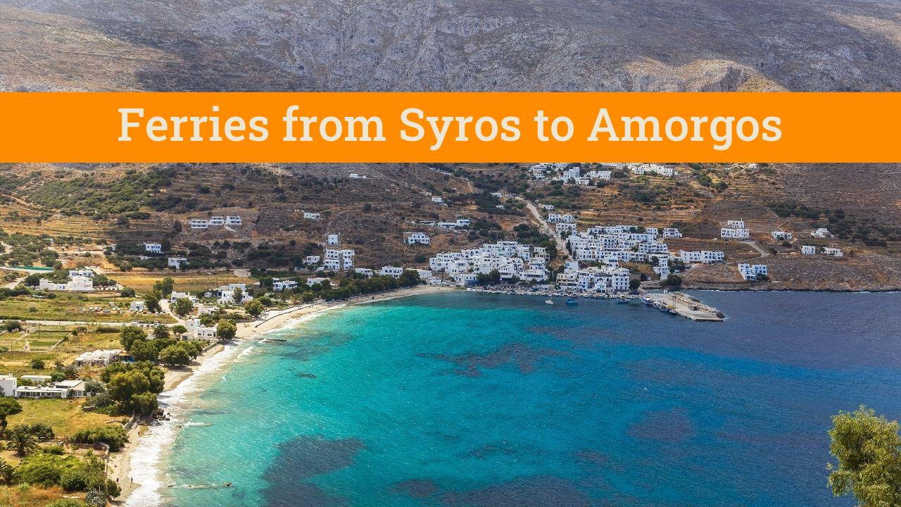 Taking the ferry from Syros to Amorgos in Greece