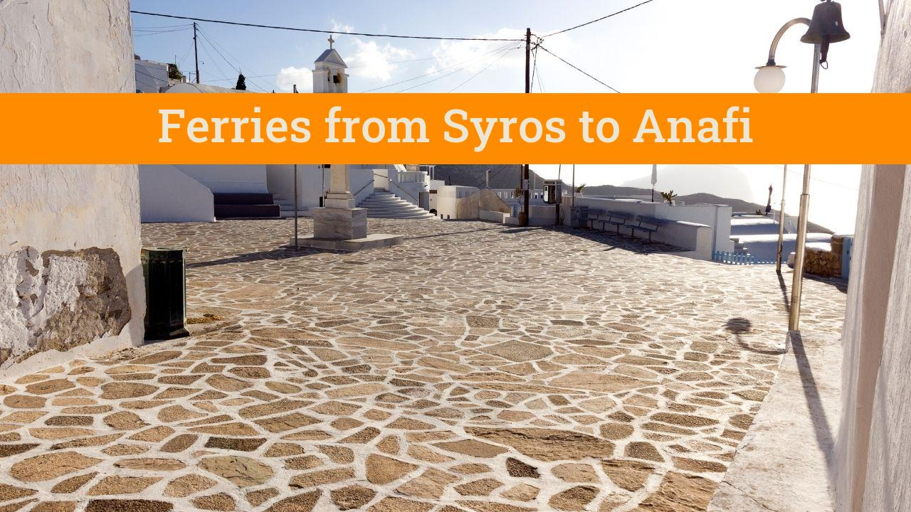 Taking the Syros to Anafi ferry in Greece