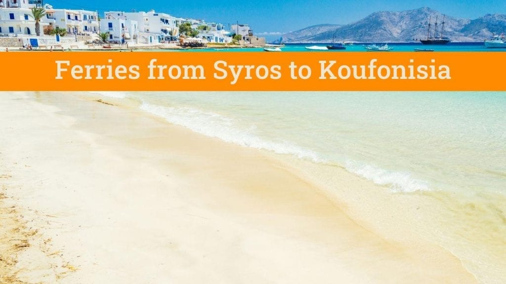 Taking the ferry from Syros to Koufonisia in Greece