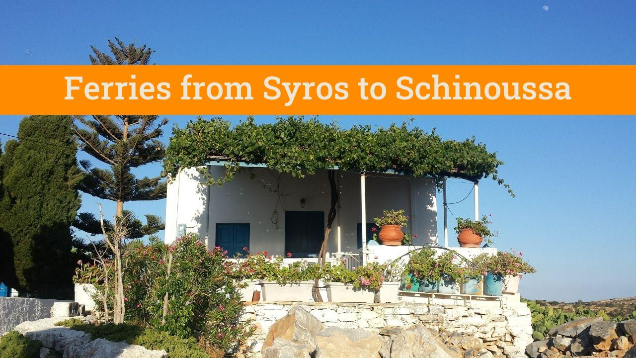 Taking a ferry from Syros to Schinoussa in Greece
