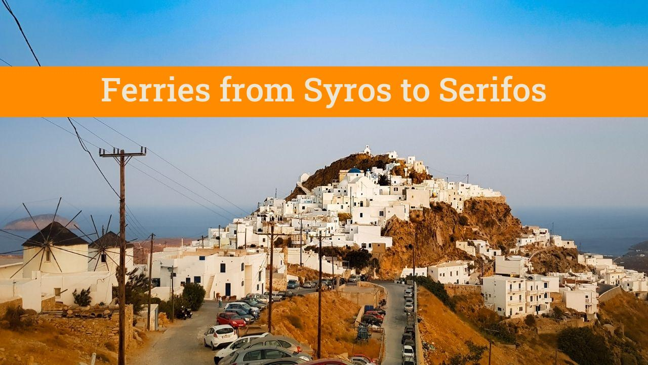 Traveling from Syros to Serifos island in Greece