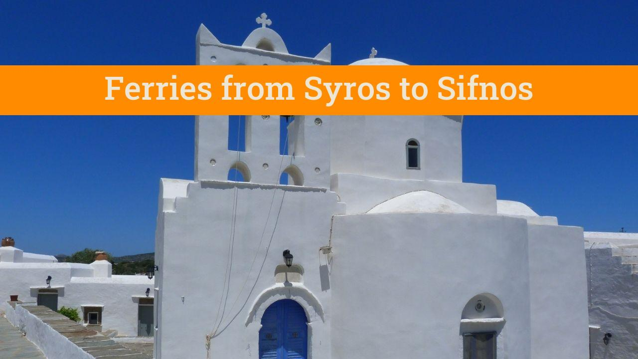 Taking the Syros to Sifnos ferry in Greece