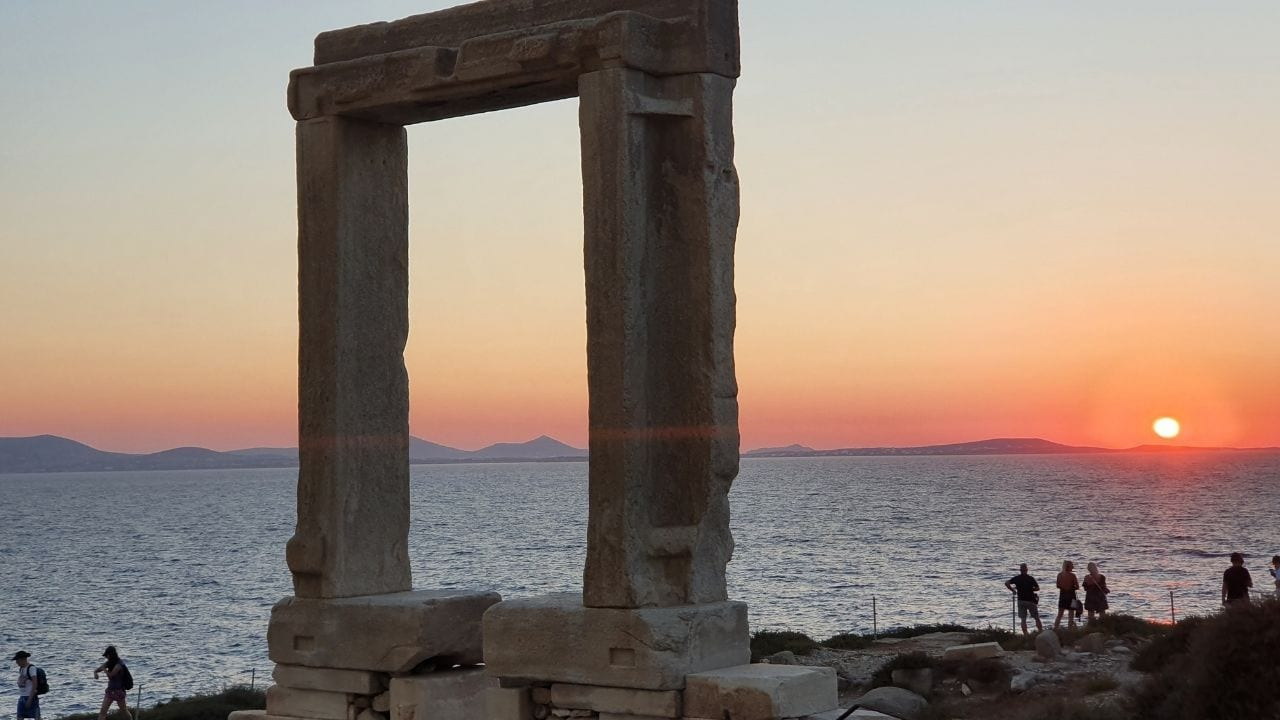 Visiting Naxos island in Greece after Syros