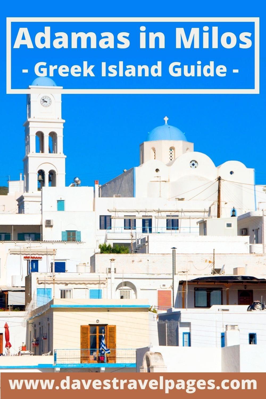 Adamas in Milos Travel Guide