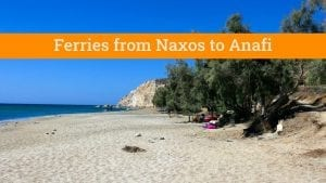 How to travel from Naxos to Anafi by ferry