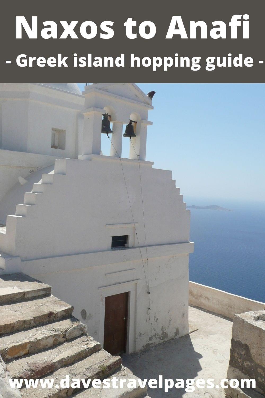 Naxos to Anafi Greek island hopping guide