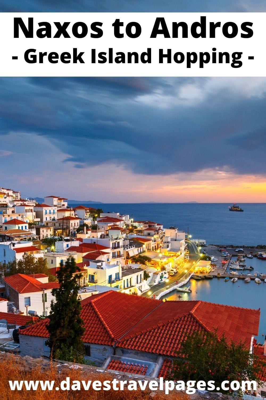 Naxos to Andros Greek Island Hopping