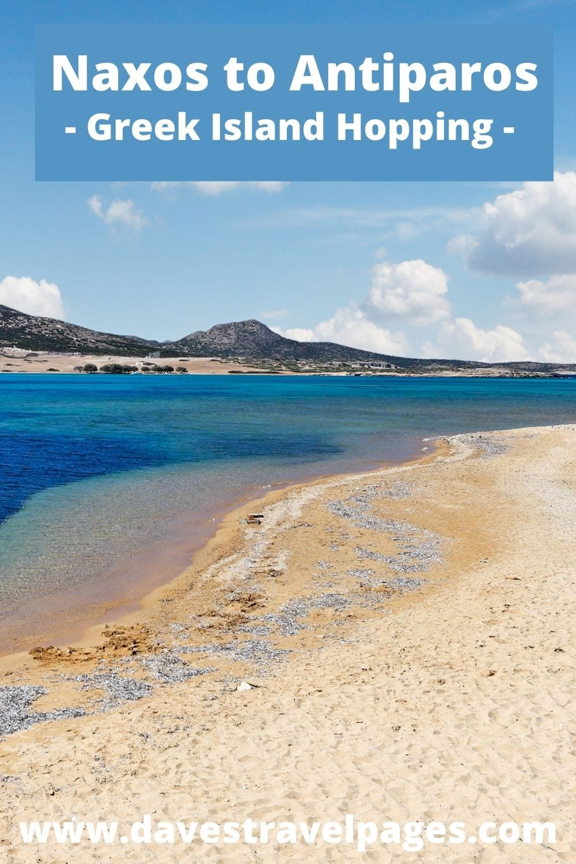 Naxos to Antiparos by ferry