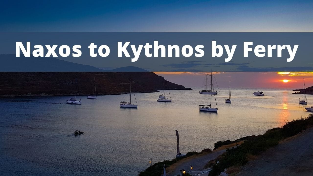 Traveling from Naxos to Kythnos by ferry