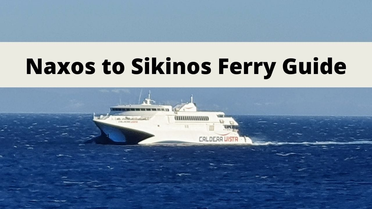 Naxos to Sikinos Ferry Guide