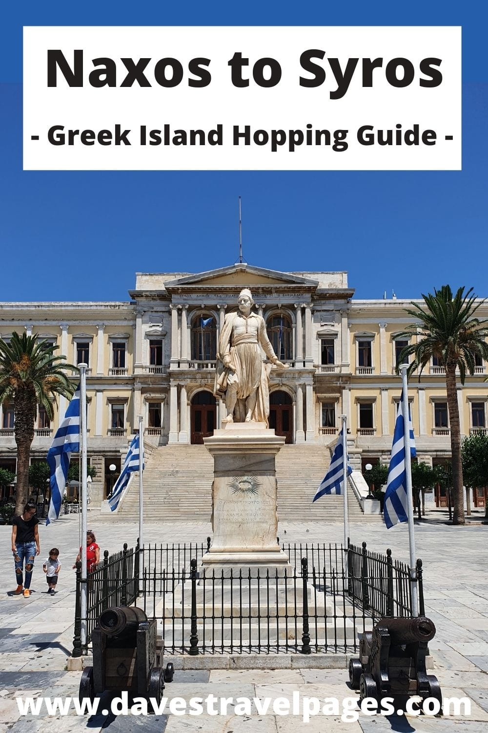 Traveling from Naxos to Syros by ferry in Greece