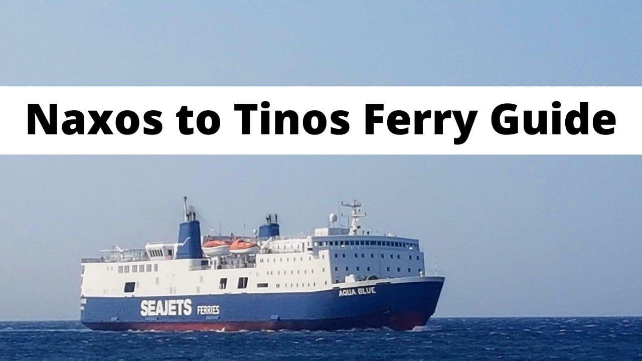 Naxos to Tinos Ferry Information
