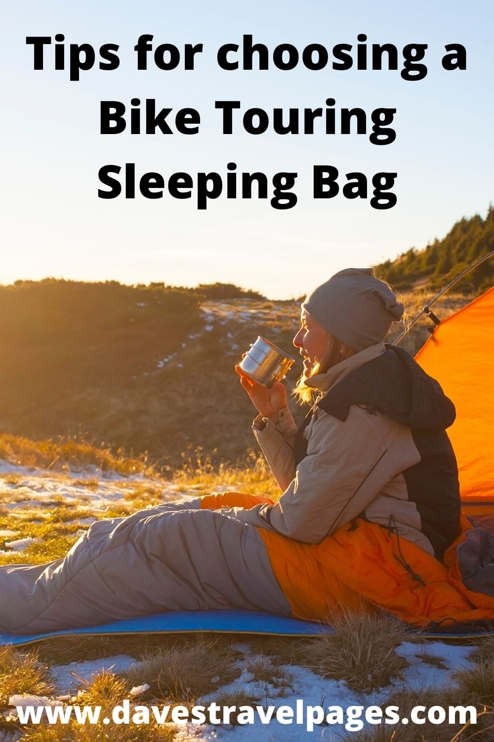 Tips for choosing the best sleeping bags for bike touring and bikepacking