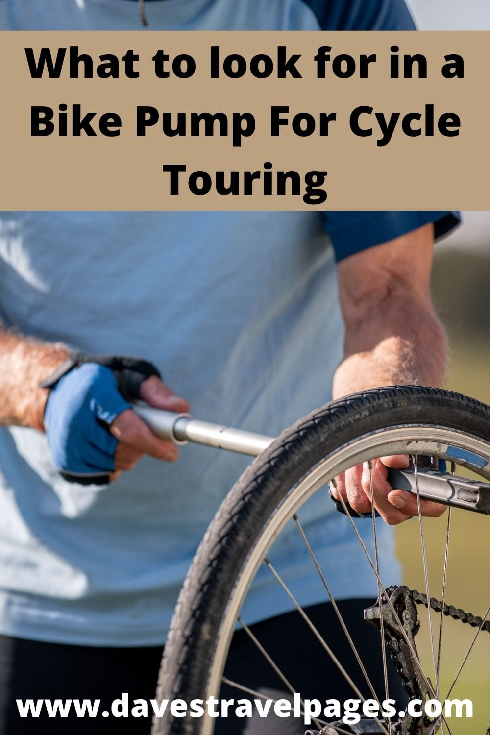 How to choose a bike pump for bicycle touring