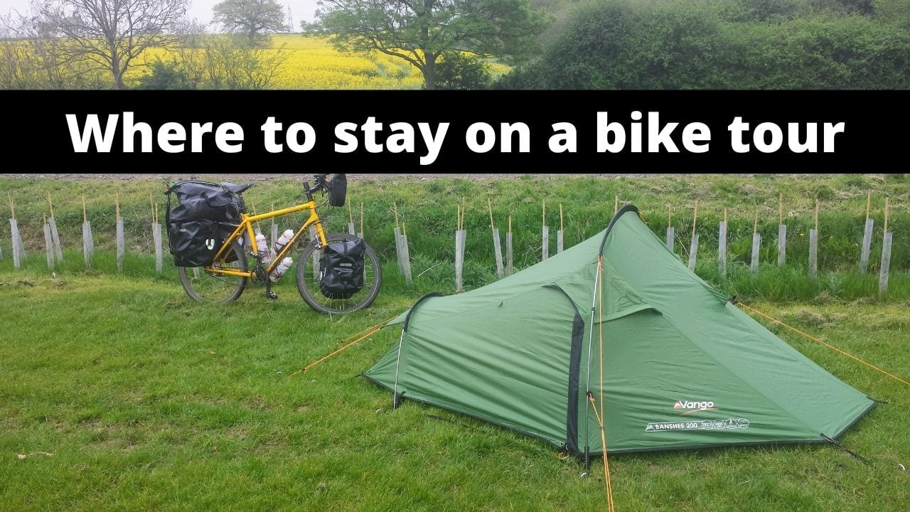 Where to stay on a bike tour