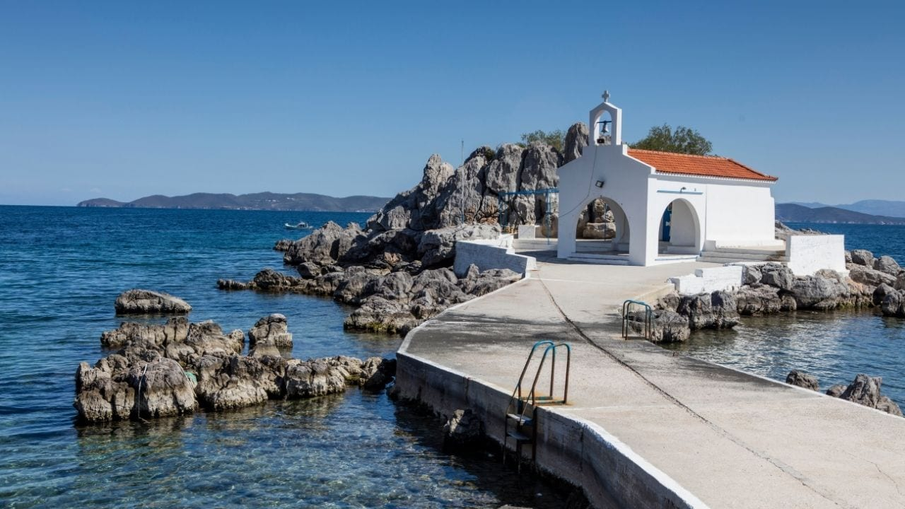 A small church in Chios island Greece