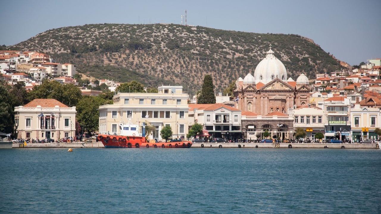 Lesvos island in Greece