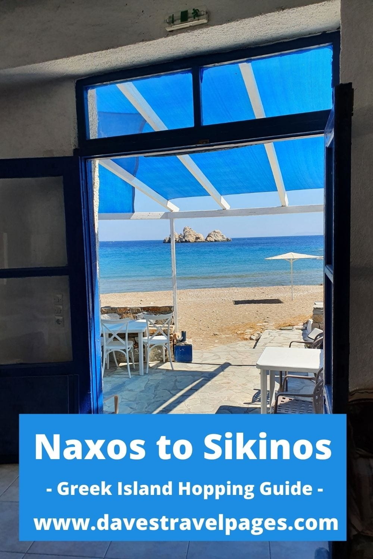 Naxos to Sikinos island hopping guide