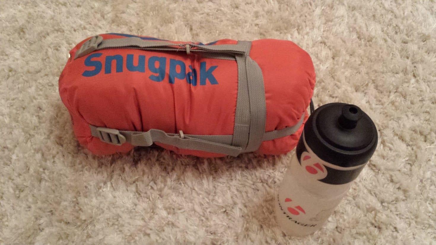 Snugpaksleeping bag for bike touring
