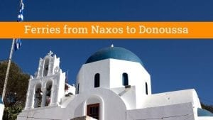 Naxos to Donoussa ferry guide