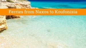 How to get from Naxos to Koufonisia by ferry