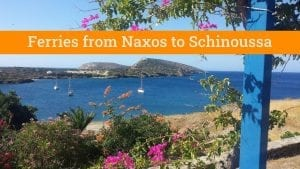Naxos to Schinoussa by ferry