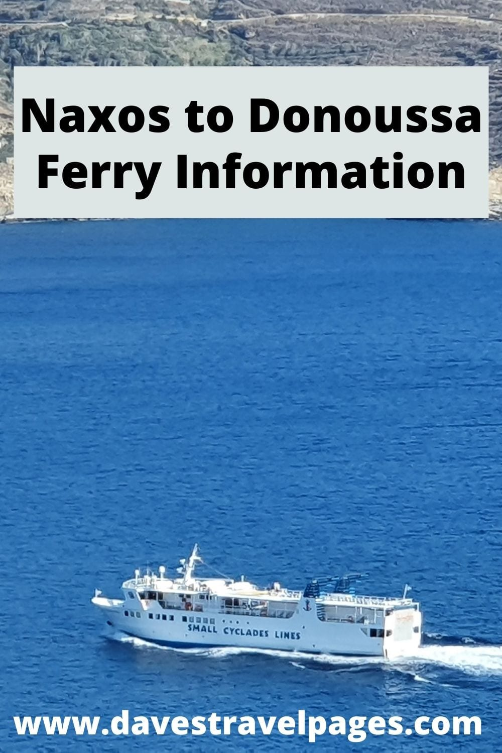 Naxos Donoussa Ferry Information and Travel Tips