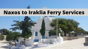 Naxos to Iraklia Ferry Services