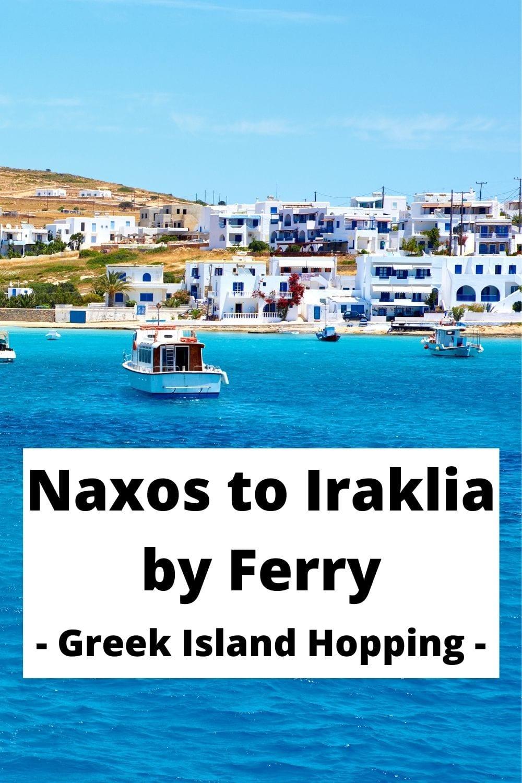 Naxos to Iraklia by ferry
