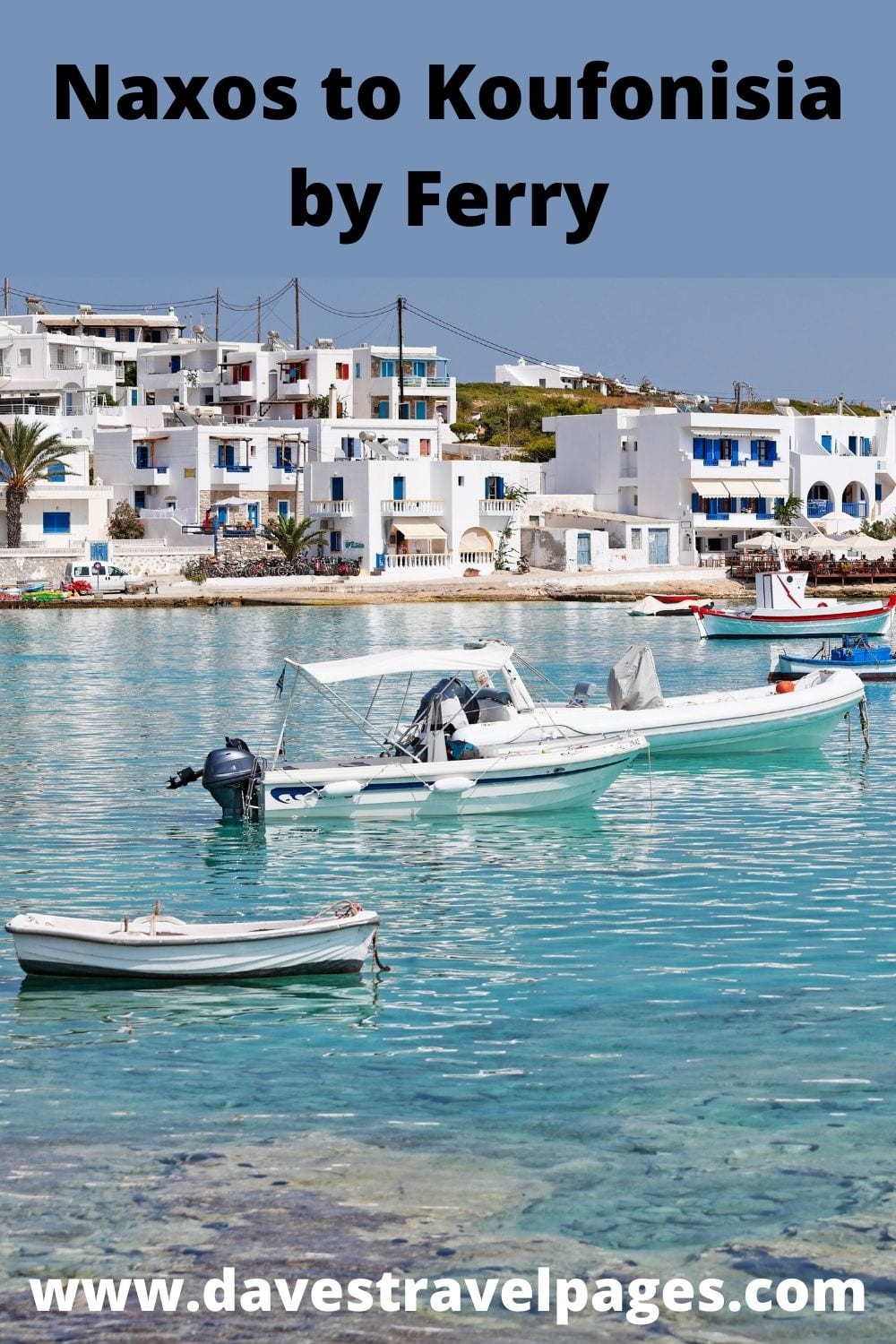 Taking a ferry from Naxos to Koufonisia in Greece