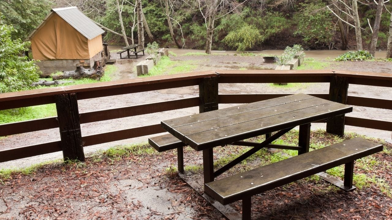 Campsite facilities at Big Sur