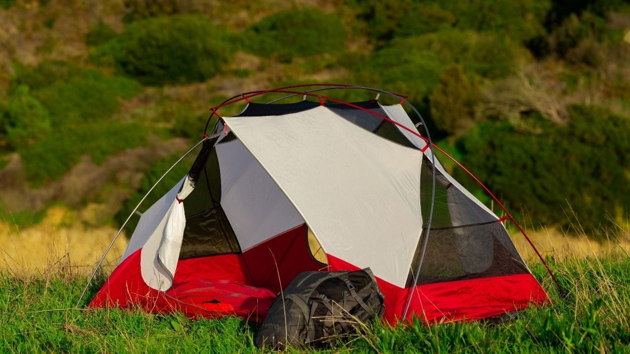 A lightweight tent that you can take camping should pack down small