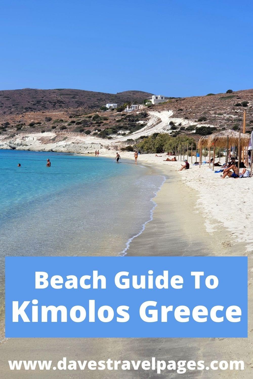A complete beach guide to Kimolos island in Greece